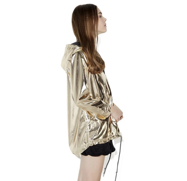 Gold Windbreaker