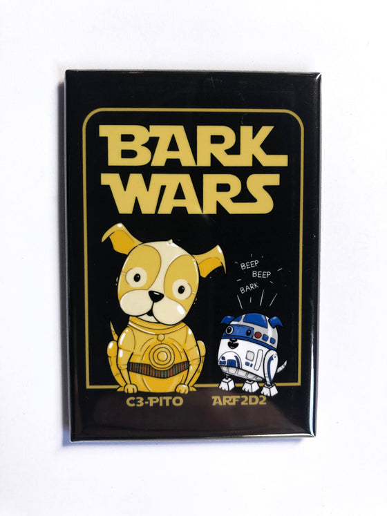 """Bark Wars"" Magnet"