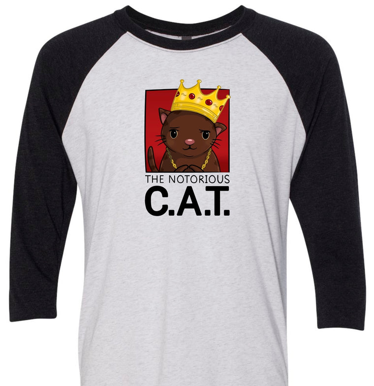 """The Notorious C.A.T."" - 3/4 Sleeve T-Shirt"