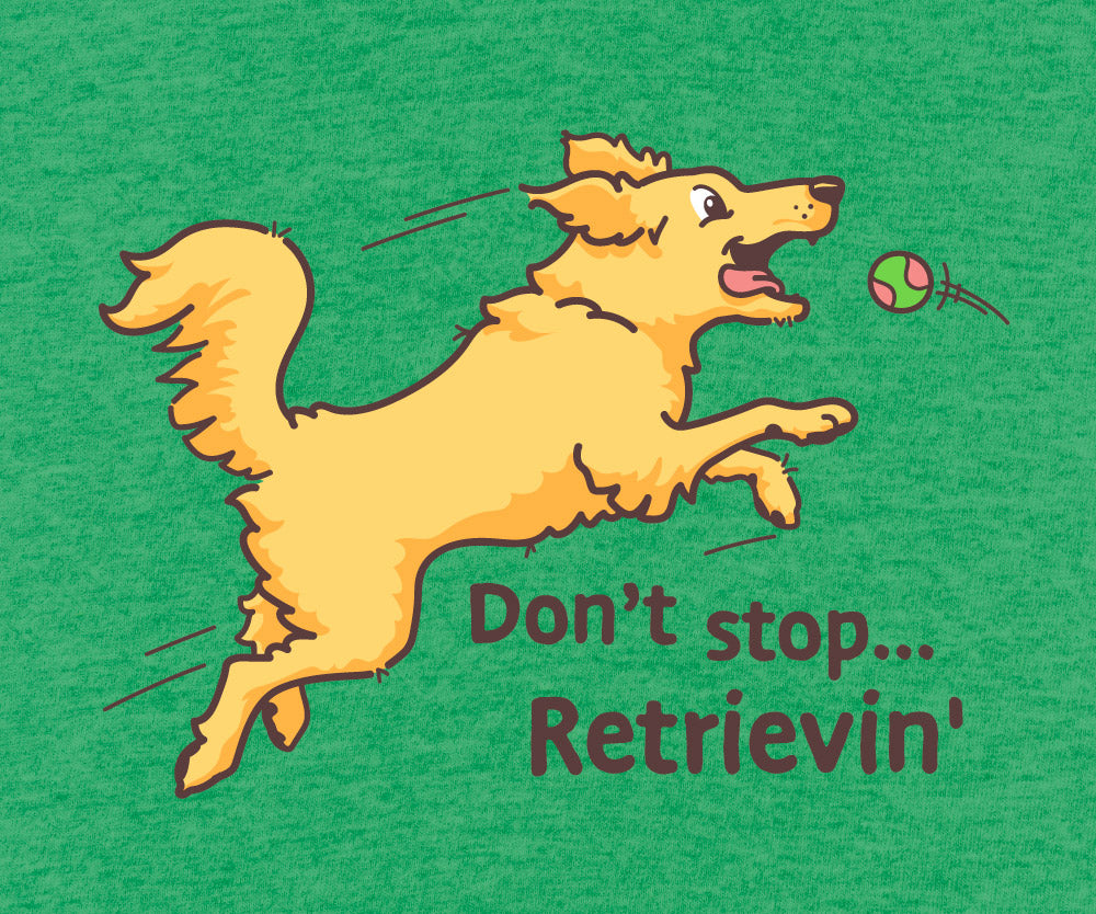 """Don't Stop Retrieving"" - Short Sleeve Shirt"