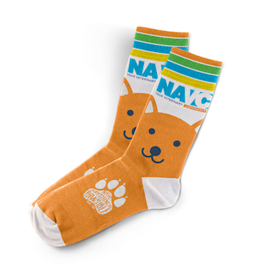 "NAVC Socks -""Orange Dog"""