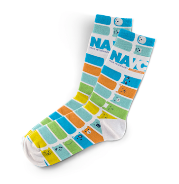 "NAVC Socks -""Animal Stripes"""