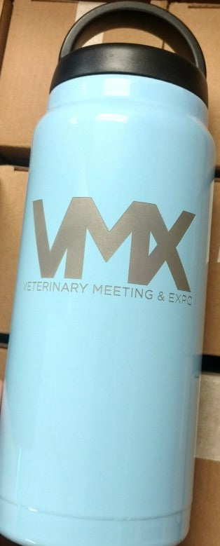 VMX Logo 36oz Rtic Water Bottle, Ice Blue