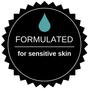 badge formulated for sensitive skin water drop