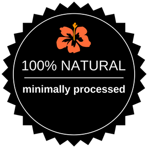 badge 100% natural minimally processed hibiscus