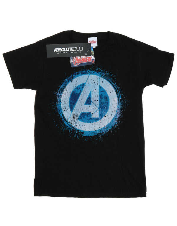 Marvel Boys Avengers Glowing Logo T-Shirt