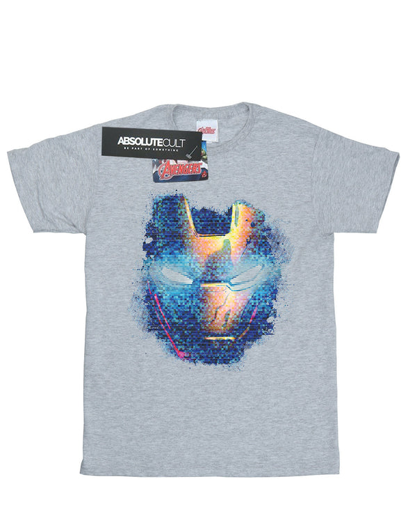 Marvel Boys Iron Man Distressed Head T-Shirt | Absolute Cult