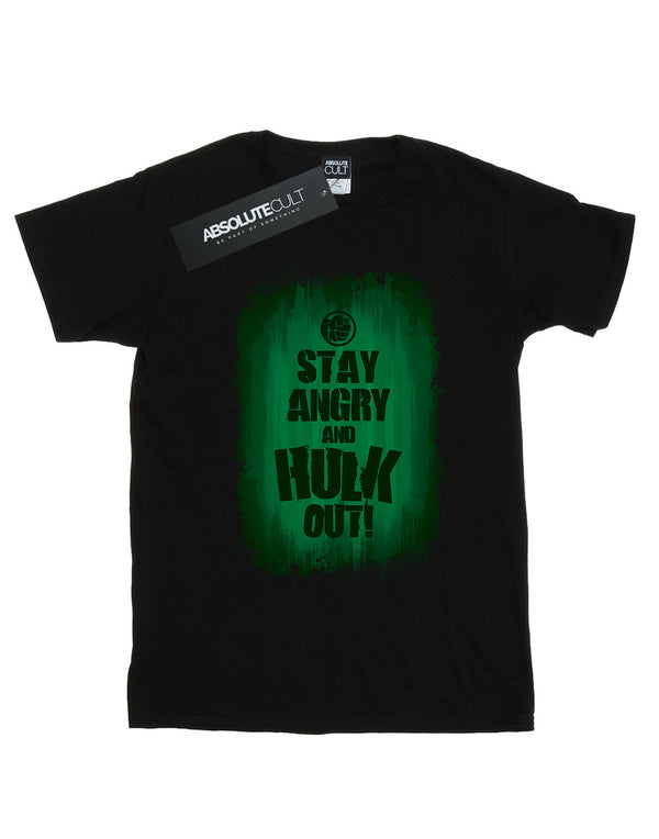 Marvel Women's Hulk Stay Angry Boyfriend Fit T-Shirt