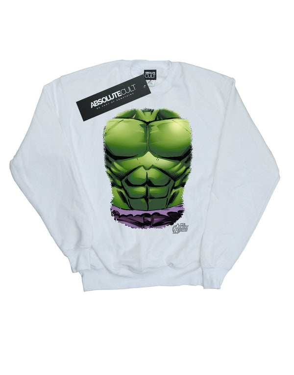 Marvel Girls Hulk Chest Burst Sweatshirt | Absolute Cult