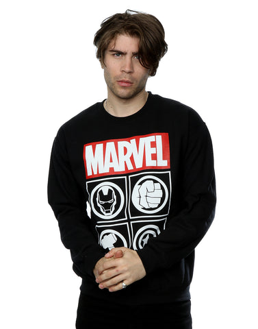 Marvel Men's Avengers Icons Sweatshirt Front Image