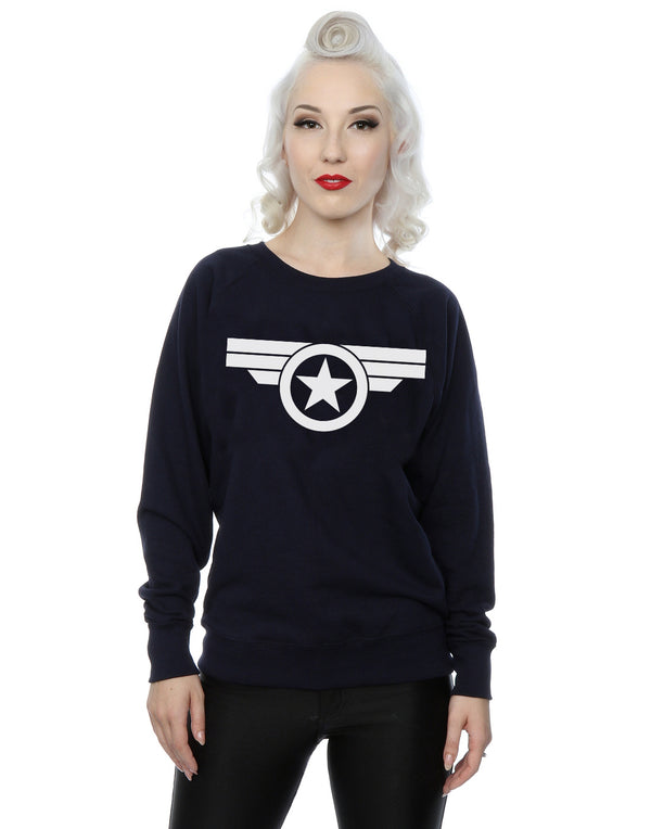 Marvel Women's Captain America Super Soldier Sweatshirt