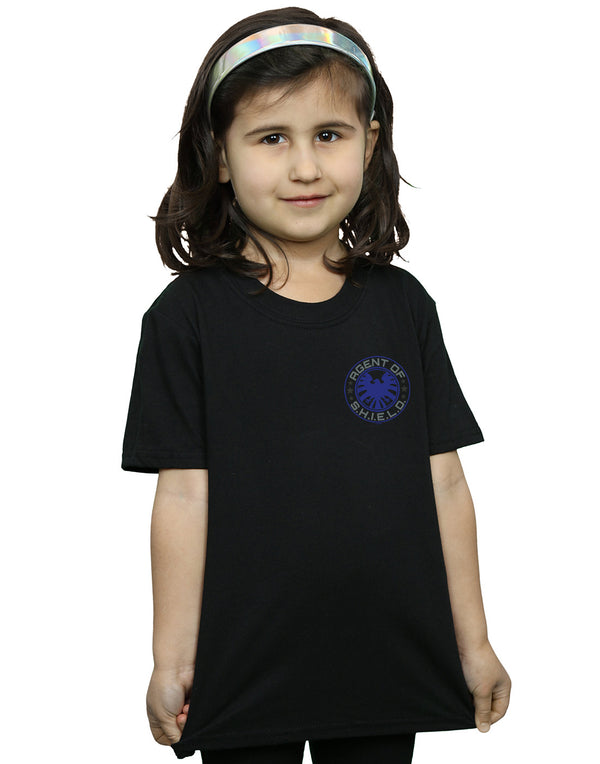 3bb0be03323 Marvel Girls Agents of S.H.I.E.L.D. Breast Print T-Shirt Black 7-8 Years  Front
