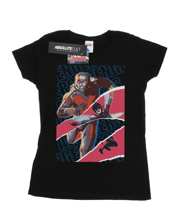 Marvel Women's Avengers Ant-Man And The Wasp Collage T-Shirt Black Medium Flat Image