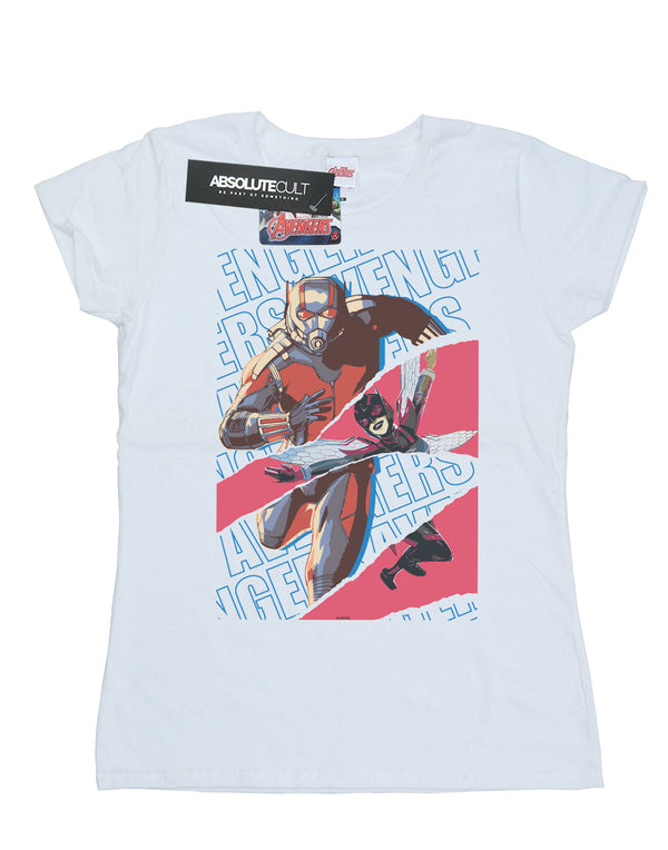 Marvel Women's Avengers Ant-Man And The Wasp Collage T-Shirt White Medium Flat Image