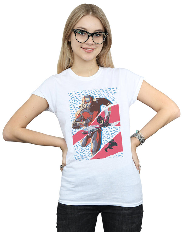 Marvel Women's Avengers Ant-Man And The Wasp Collage T-Shirt White Medium Front Image