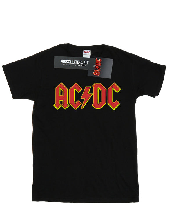 AC/DC Women's Red Logo Boyfriend Fit T-Shirt