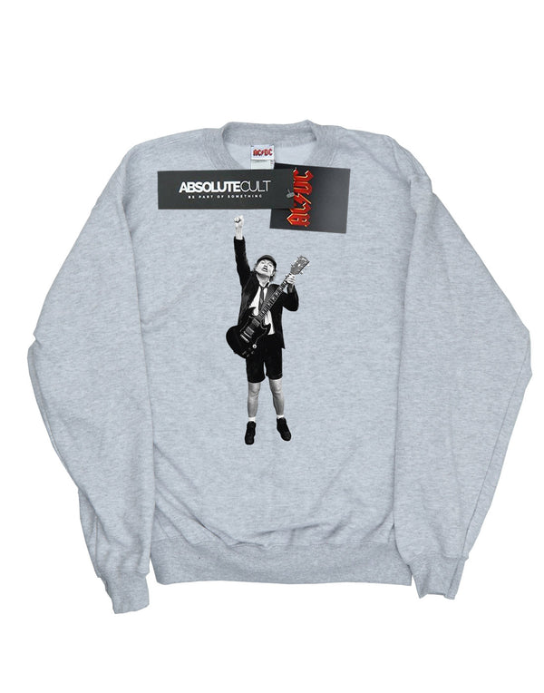 AC/DC Girls Angus Young Cut Out Sweatshirt - Absolute Cult