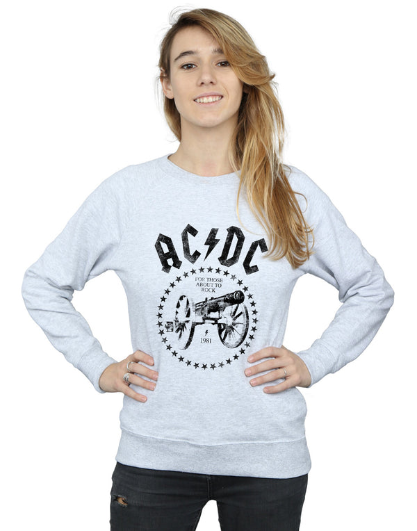AC/DC Women's We Salute You Cannon Sweatshirt