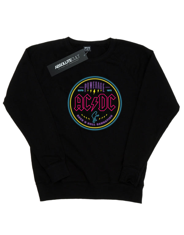 AC/DC Women's Circle Neon Sweatshirt