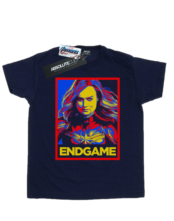 Marvel Men's Avengers Endgame Captain Marvel Poster T-Shirt | Absolute Cult
