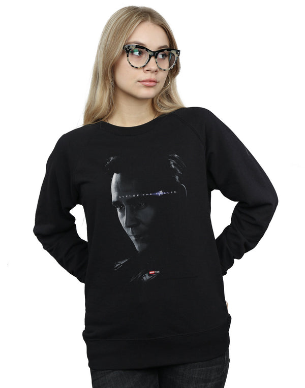 Marvel Women's Avengers Endgame Avenge The Fallen Loki Sweatshirt