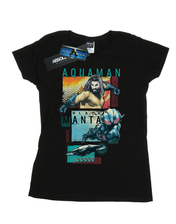 DC Comics Women's Aquaman Character Tiles T-Shirt | Absolute Cult