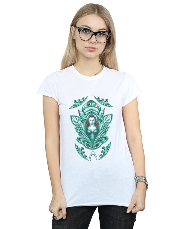 DC Comics Women's Aquaman Mera Crest T-Shirt