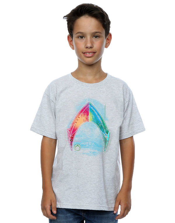 DC Comics Boys Aquaman Mera Logo T-Shirt
