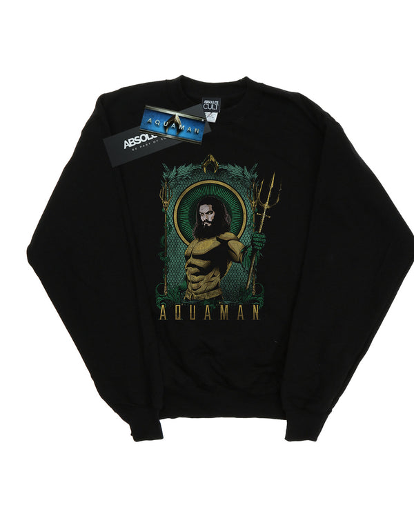DC Comics Girls Aquaman Framed Trident Sweatshirt
