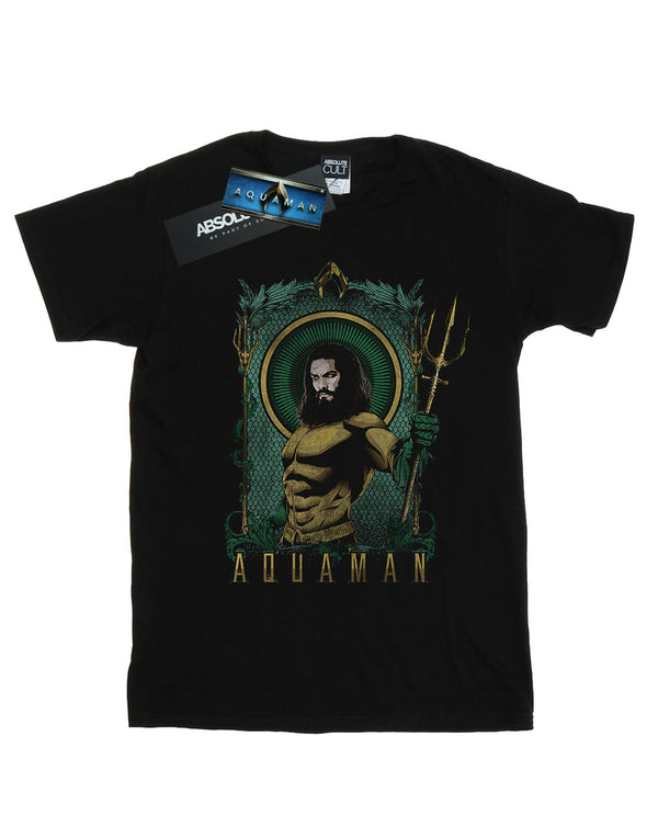 DC Comics Men's Aquaman Framed Trident T-Shirt | Absolute Cult