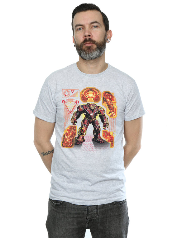 Marvel Men's Avengers Infinity War Hulkbuster Blueprint T-Shirt | Absolute Cult