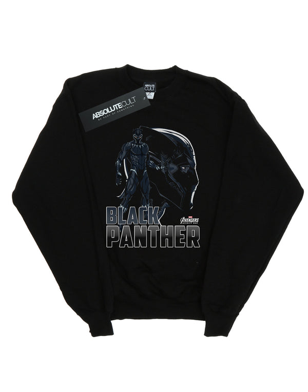 Marvel Boys Avengers Infinity War Black Panther Character Sweatshirt | Absolute Cult