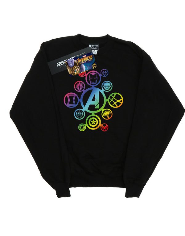 Marvel Women's Avengers Infinity War Rainbow Icons Sweatshirt | Absolute Cult