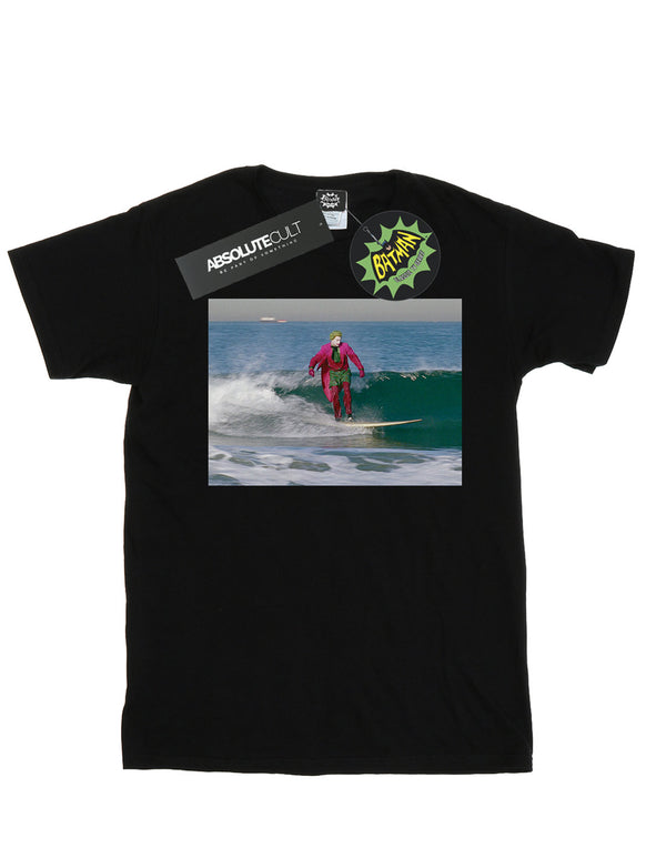 DC Comics Men's Batman TV Series Joker Surfing T-Shirt
