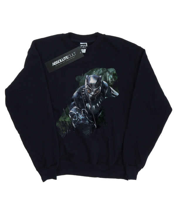 Marvel Boys Black Panther Wild Silhouette Sweatshirt