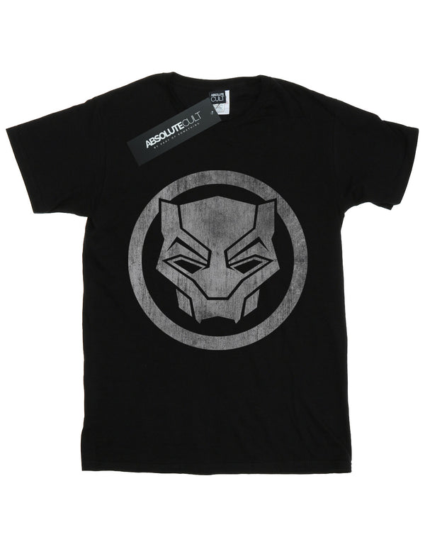 Marvel Boys Black Panther Distressed Icon T-Shirt
