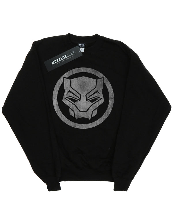 Marvel Girls Black Panther Distressed Icon Sweatshirt | Absolute Cult