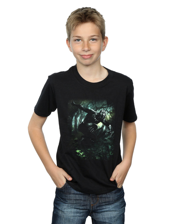 Marvel Boys Black Panther Jungle Run T-Shirt