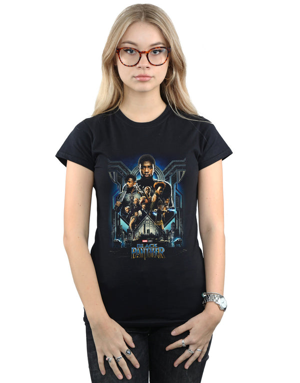 Marvel Women's Black Panther Movie Poster T-Shirt