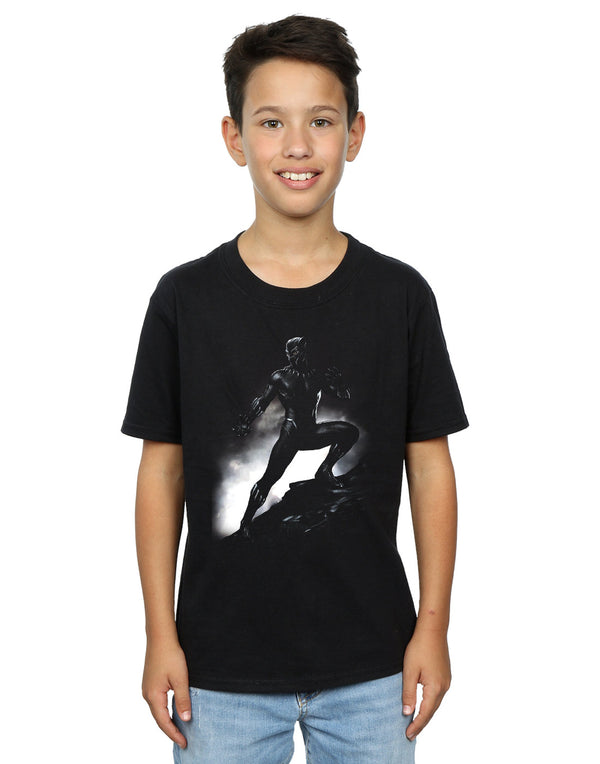 Marvel Boys Black Panther Standing Pose T-Shirt