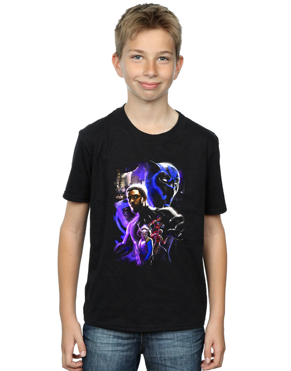 Marvel Boys Black Panther Character Montage T-Shirt