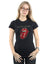 Rolling Stones Women's Plastered Tongue T-Shirt