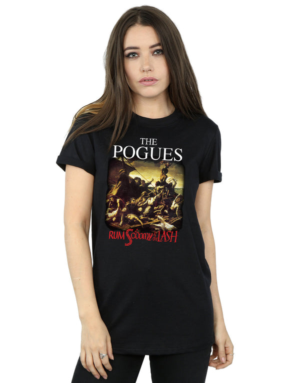 The Pogues Women's Rum Sodomy And The Lash Boyfriend Fit T-Shirt