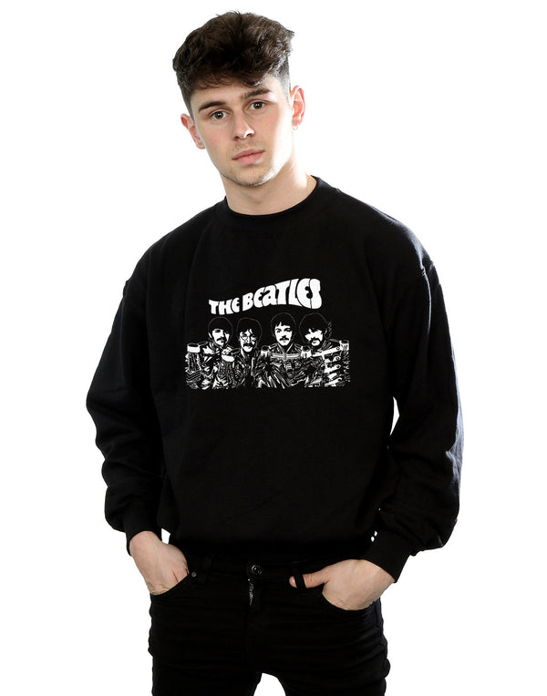 The Beatles Men's Cartoon Shot Sweatshirt