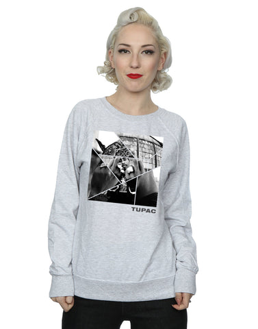 2Pac Women's Broken Up Sweatshirt Medium Heather Grey Front Image