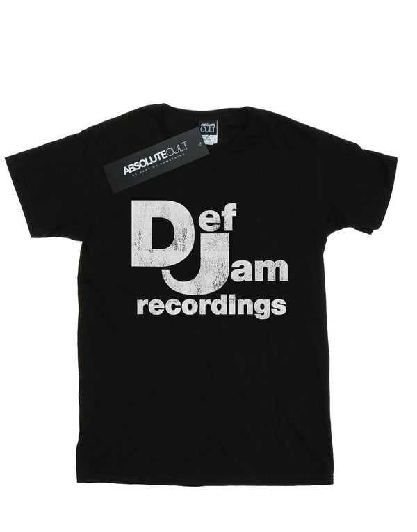 Def Jam Records Men's Distressed Logo T-Shirt