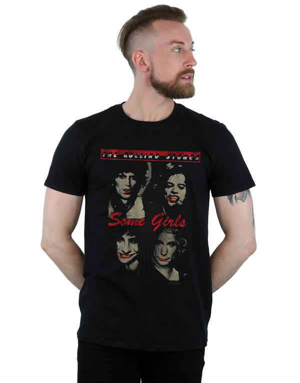 Rolling Stones Men's Red Lipstick Girls T-Shirt