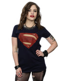 DC Comics Women's Superman Man Of Steel Logo T-Shirt