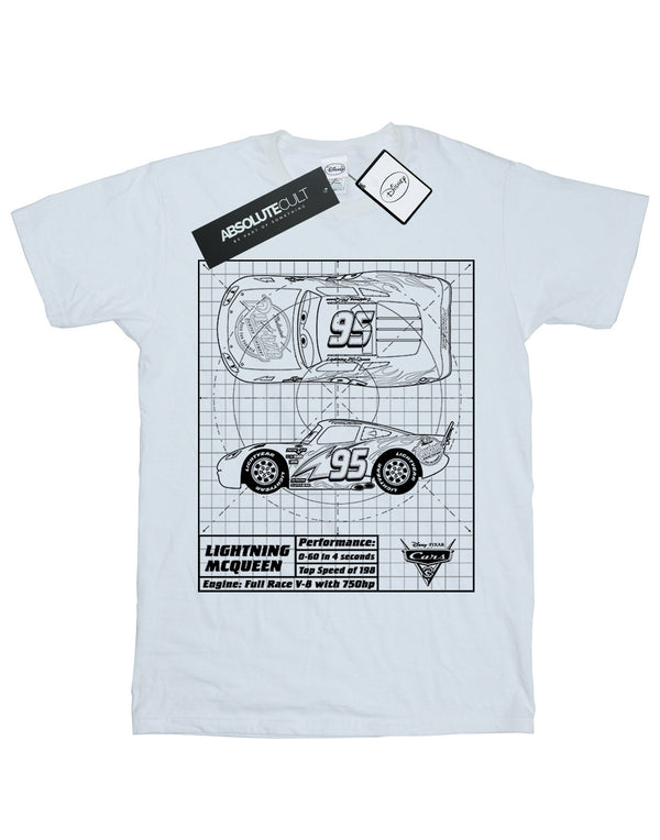 Disney Boys Cars Lightning McQueen Blueprint T-Shirt