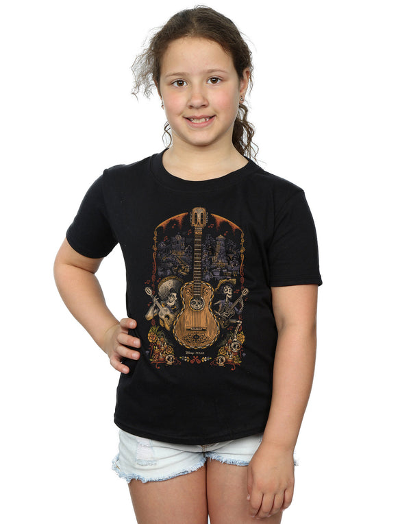 5850c939 Disney Girls Coco Guitar Poster T-Shirt | Absolute Cult
